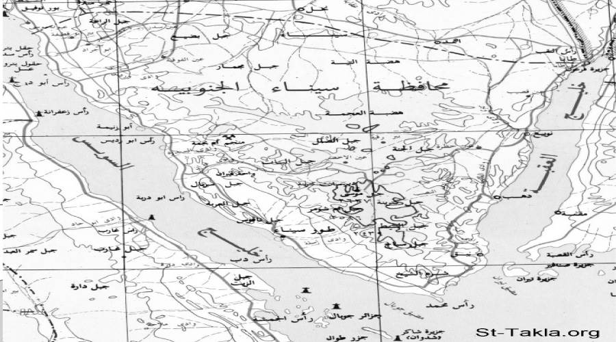 خريطة لسيناء