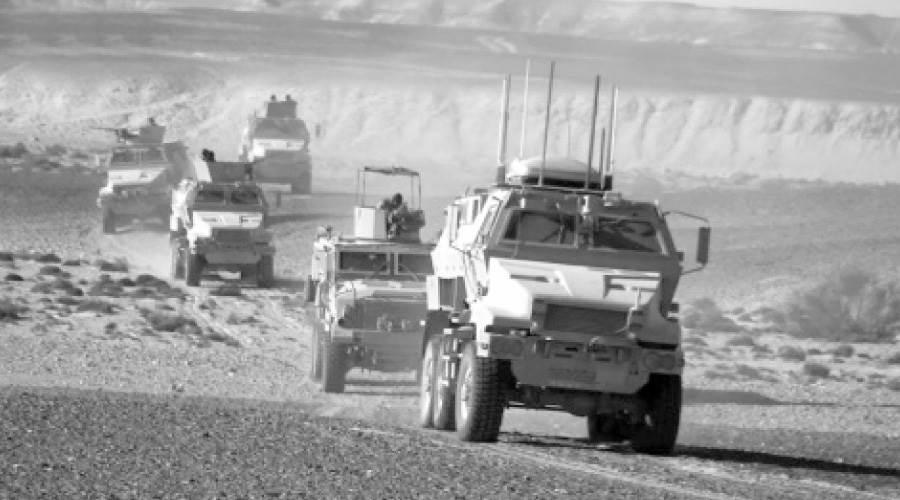 رسم الجيش المصرى ملحمة الفداء بتطهير سيناء من الإرهاب بعد 30 يونيو
