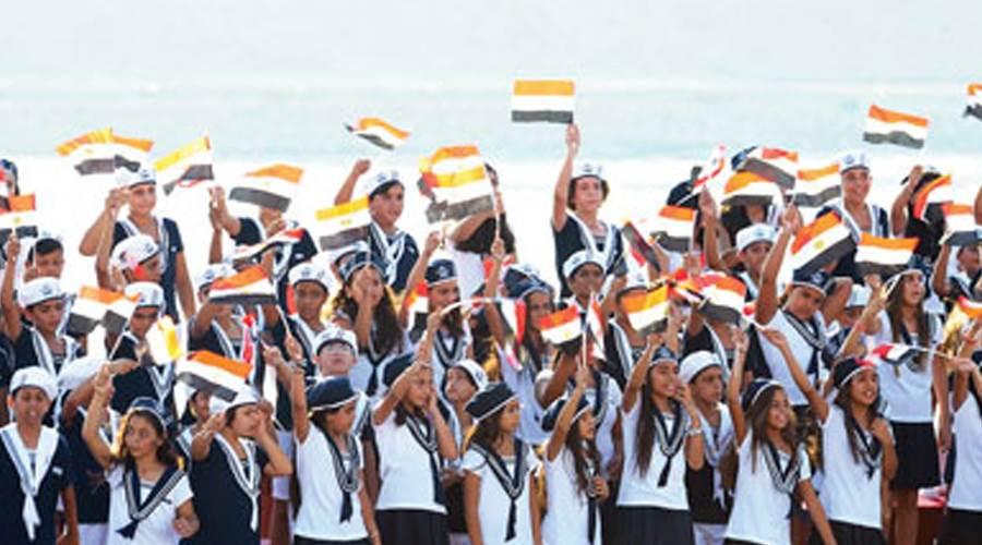 كورال أطفال مصر خلال الاحتفال بافتتاح قناة السويس الجديدة أغسطس 2015